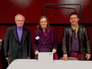 Philippe AUSTIN, webmaster; Anne LELEU, présidente et Joseph GRAU
